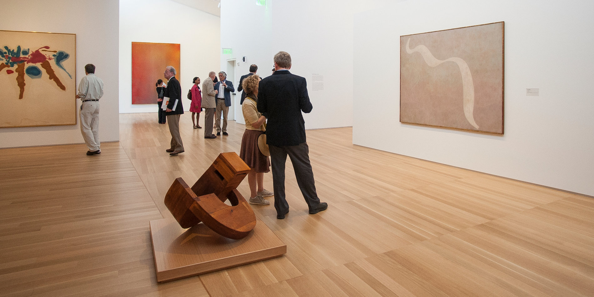 Visitors at the Anderson Collection gallery