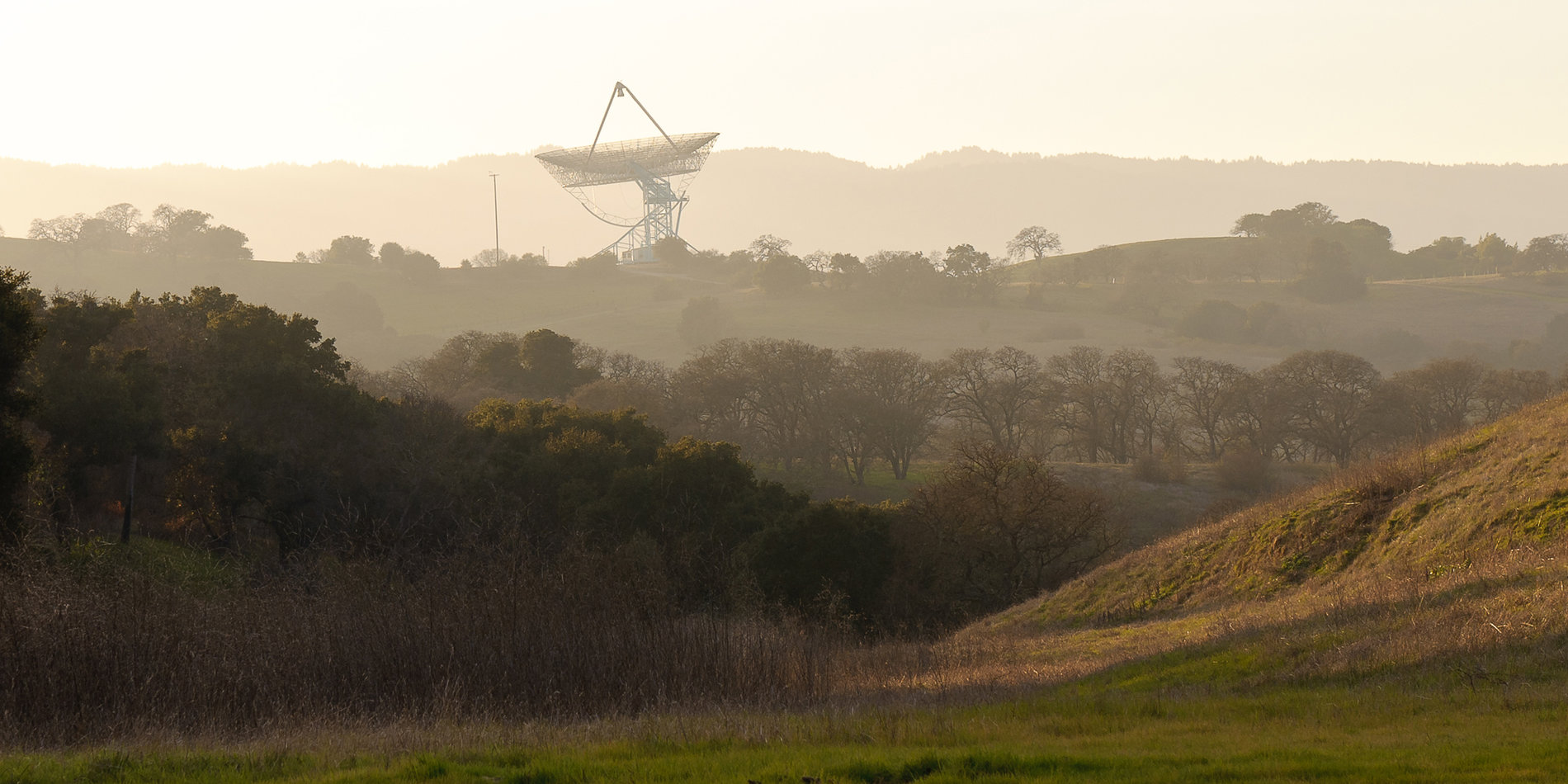 Stanford Dish and golden hills